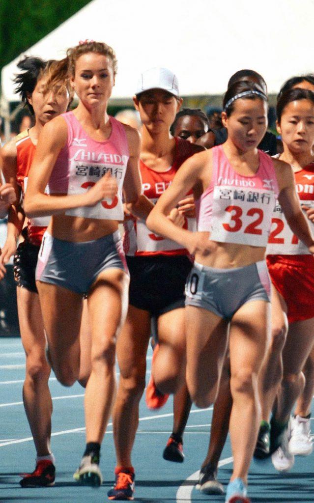 女子5000m A組  メリッサ選手・木村選手