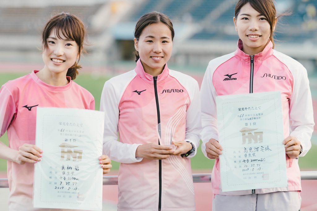 優勝者3名 *左から 真柄選手・木村選手・高見澤選手
